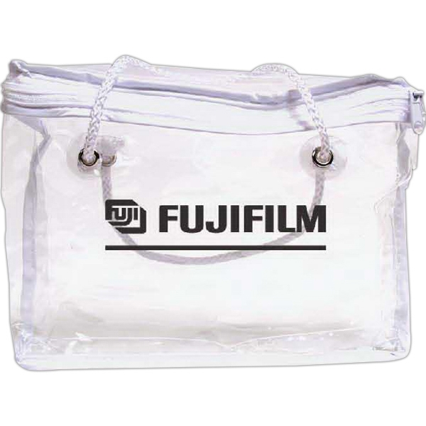 Custom Clear Vinyl Zippered Bag