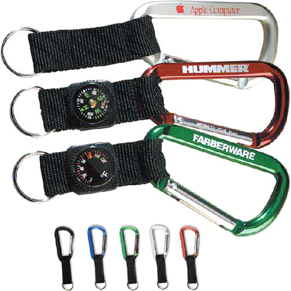 Personalized 80 mm Carabiner with thermometer strap