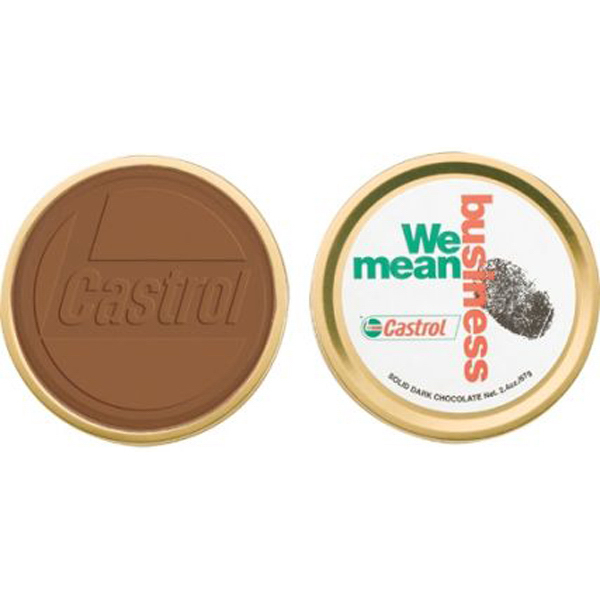Promotional Medallion Chocolate Tin