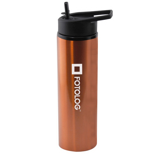 Customized 24 oz aluminum water bottle with sport cap