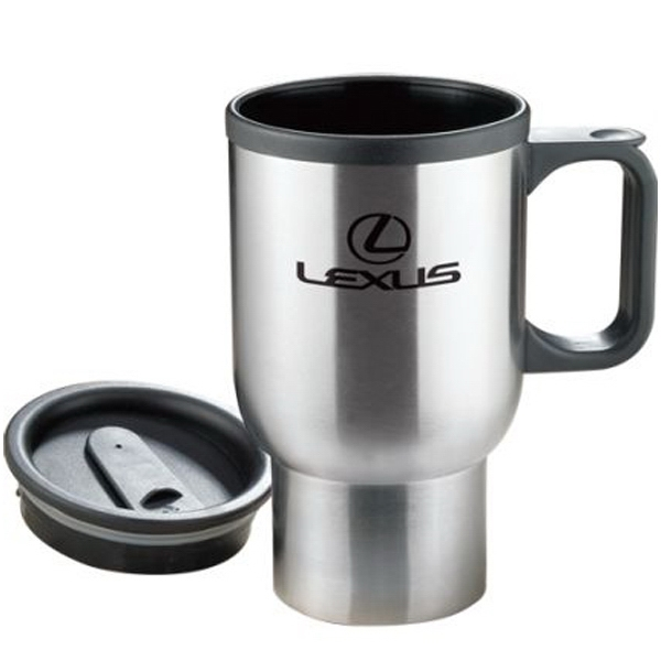 Imprinted 16 oz Insulated Stainless Steel Travel Mug