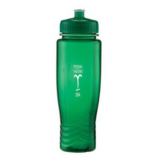 Custom 28 oz Translucent Water Bottle with Sports Cap