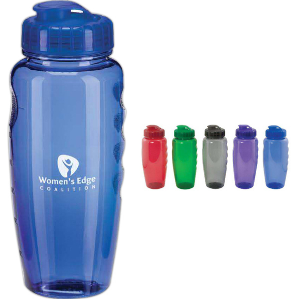Customized 30 oz Translucent Water Bottle with Super Sipper Lid