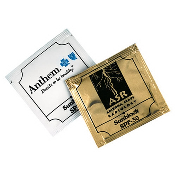 Printed Small Sunscreen Packet SPF30