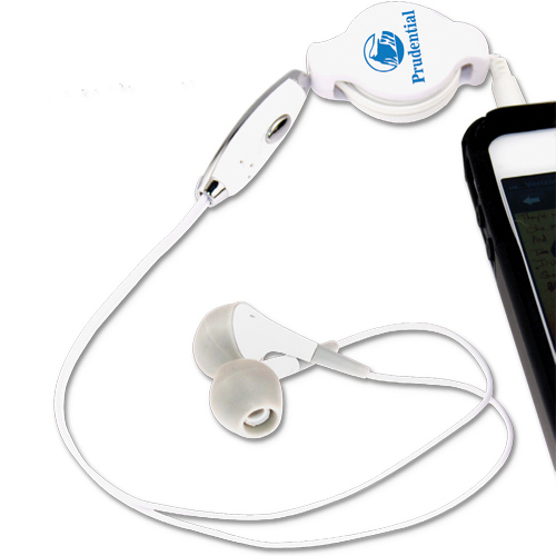 Printed Noise Reducing Retractable Earphones with Microphone
