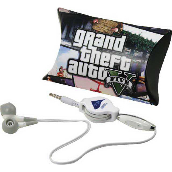 Promotional Graham pillow pack with noise reducing earbuds