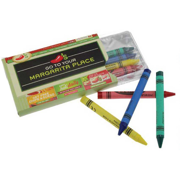Custom Crayons in Blister Pack with Sleeve