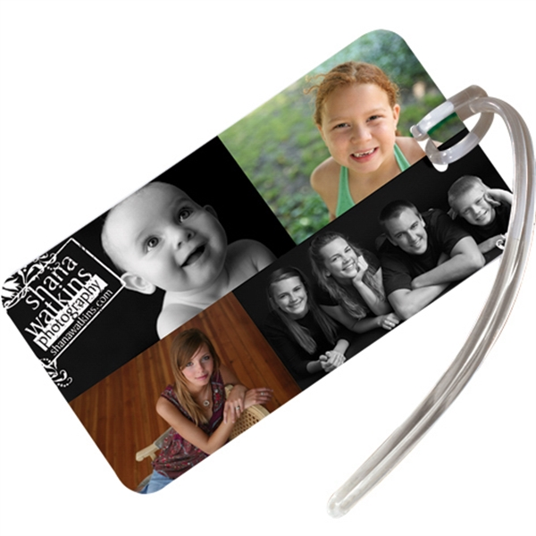 Customized Rectangular Luggage Tag with Address Card & Strap