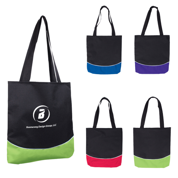 Customized Color Curve Accent Panel Tote