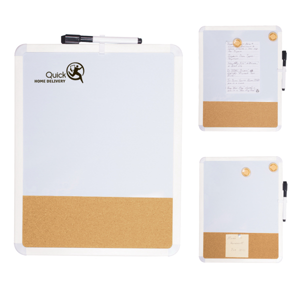 Imprinted Duo White Board/Cork Board