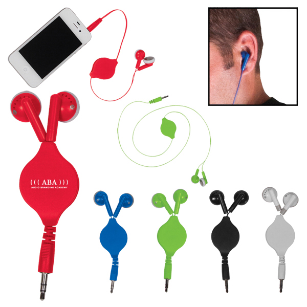 Customized Retractable Ear Buds