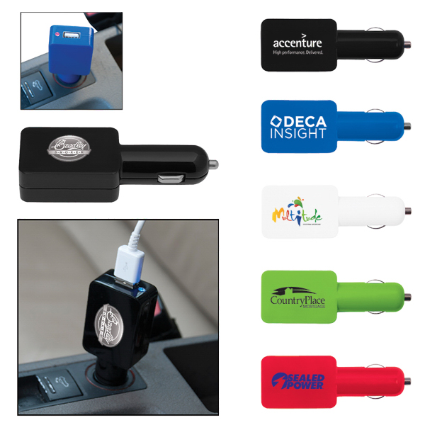 Customized Flat USB Car Adapter