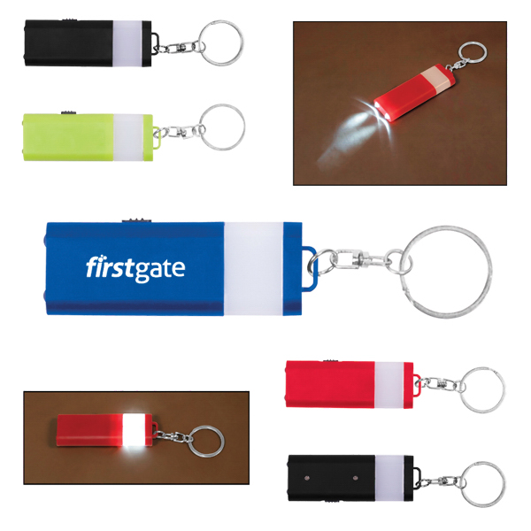 Custom Flat 4 LED Lantern Key Chain