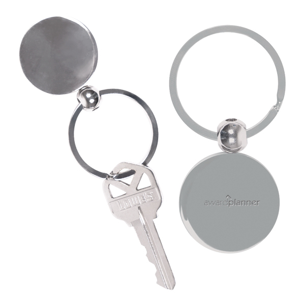 Imprinted Round Metal Key Chain