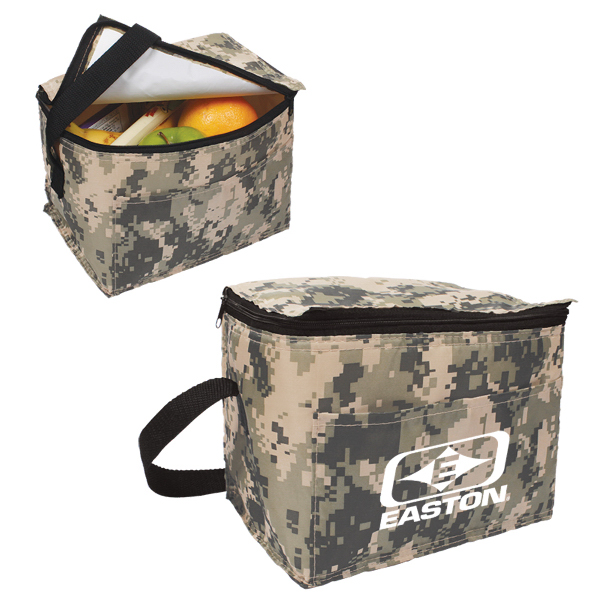 Imprinted Digital Camo 6-Pack Cooler