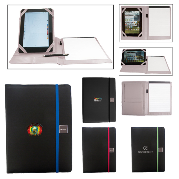 Customized Full Size Portfolio With Adjustable Tablet Stand