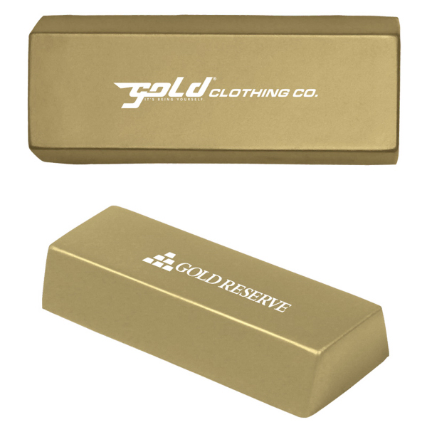 Custom Gold Bar Stress Reliever