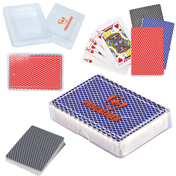 Imprinted Playing Cards in Case