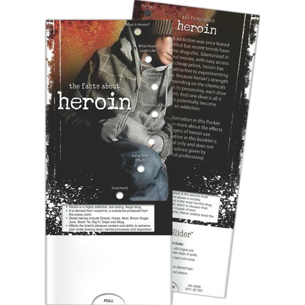 Printed Pocket Slider - The Facts About Heroin