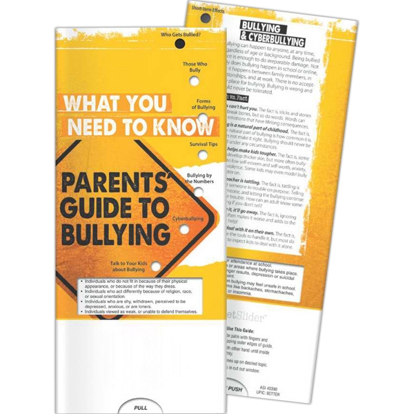 Custom Pocket Slider - Parents' Guide to Bullying