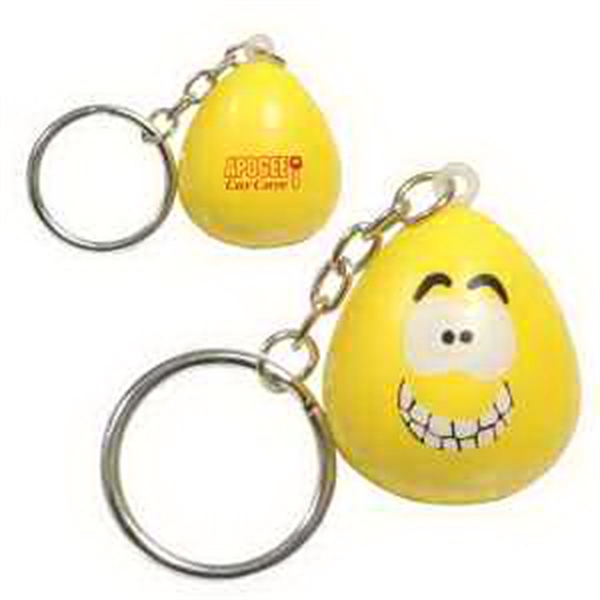 Printed Mood Maniac- Happy Key Chain Stress Reliever