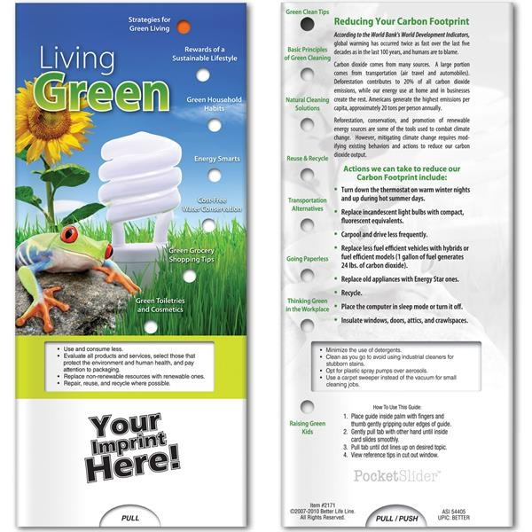 Printed Pocket Slider - Living Green