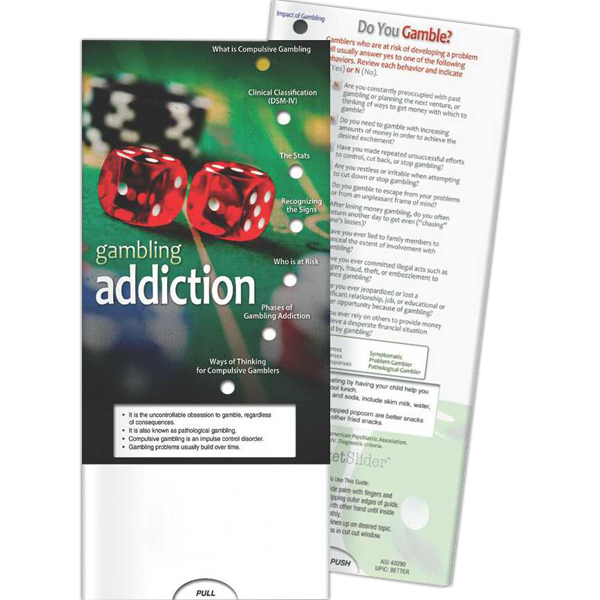 Printed Pocket Slider - Gambling Addiction