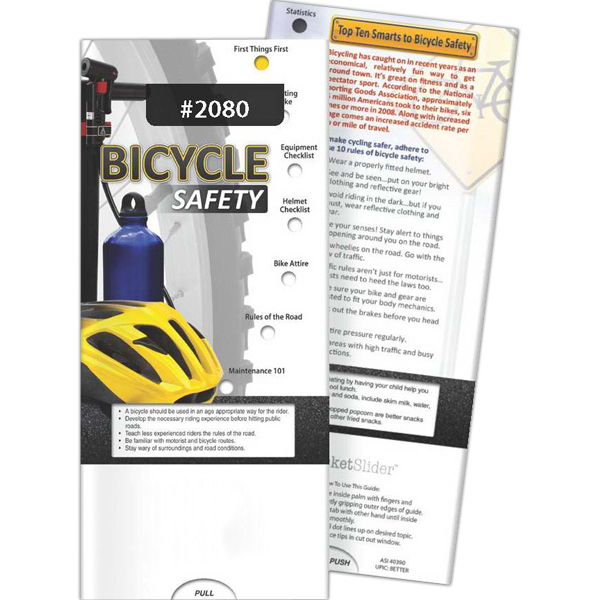Personalized Pocket Slider - Bicycle Safety