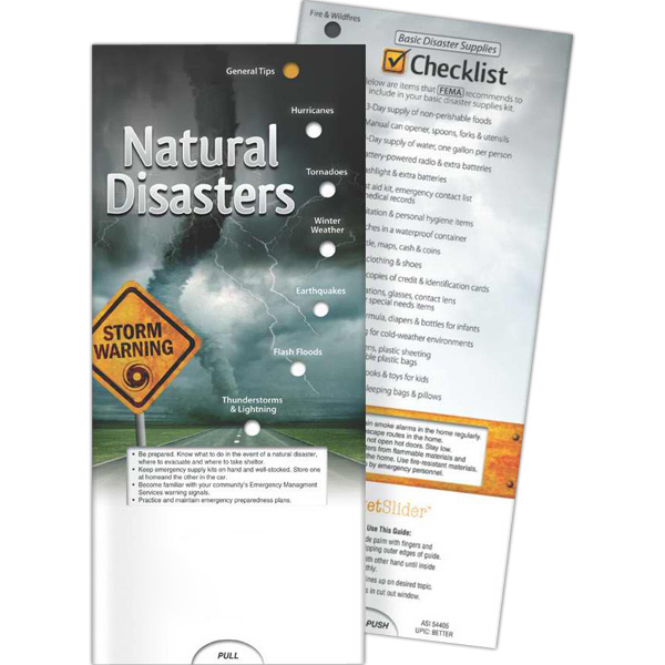Custom Pocket Slider - Natural Disasters