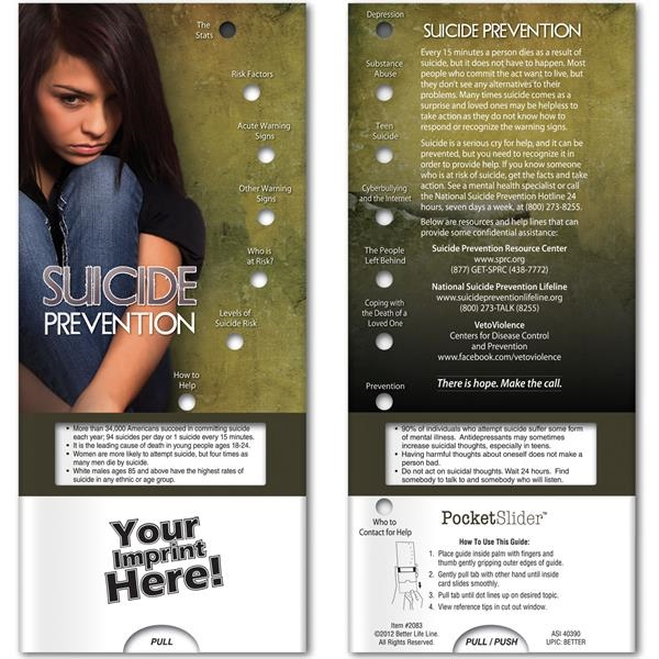 Printed Pocket Slider - Suicide Prevention