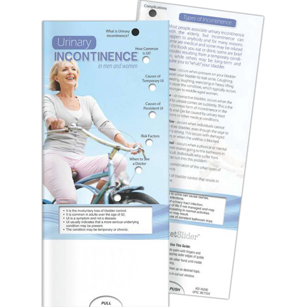 Promotional Pocket Slider - Urinary Incontinence in Men and Women