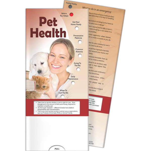 Imprinted Pocket Slider - Pet Health