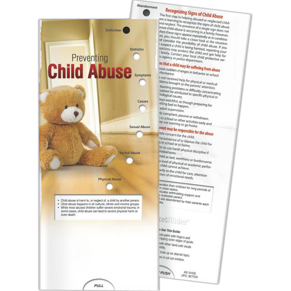 Imprinted Pocket Slider - Preventing Child Abuse