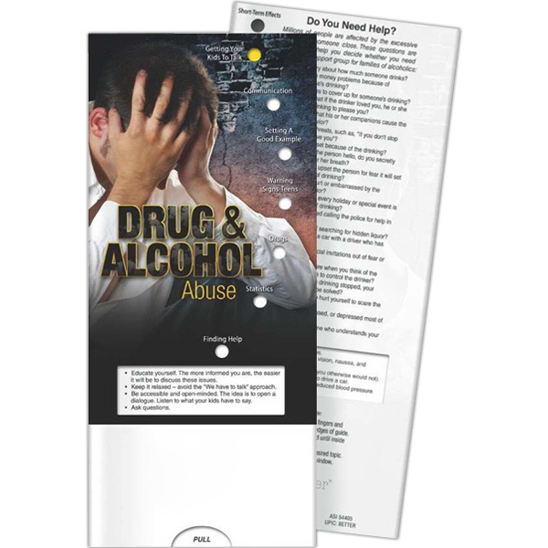 Imprinted Pocket Slider - Drug and Alcohol Abuse