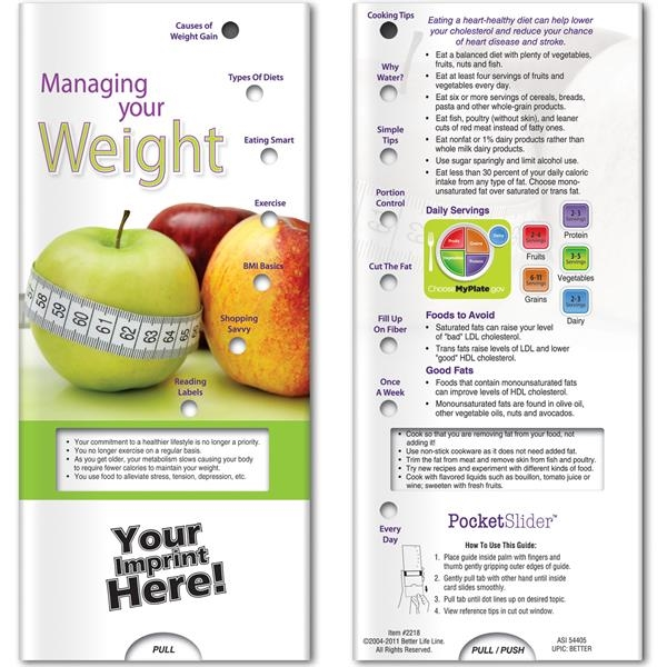 Printed Pocket Slider - Managing Your Weight
