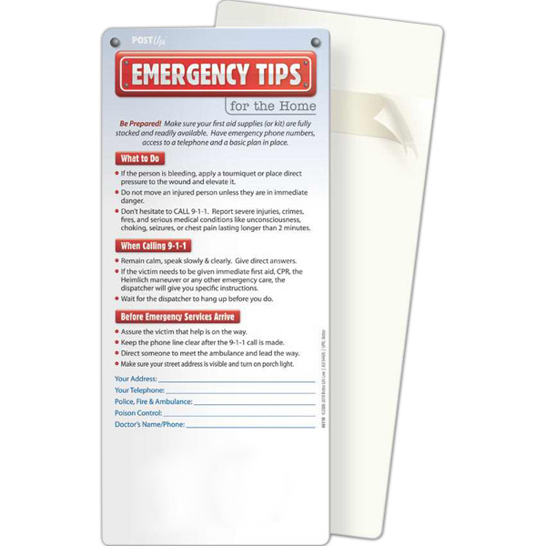Printed Post Ups - Emergency Tips for the Home