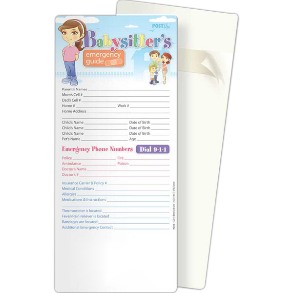 Customized Post Ups - Babysitter's Emergency Guide