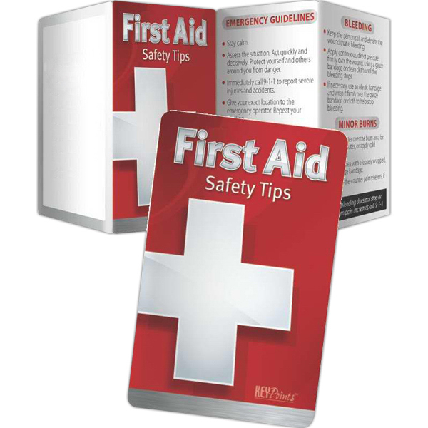 Imprinted Key Points - First Aid: Safety Tips