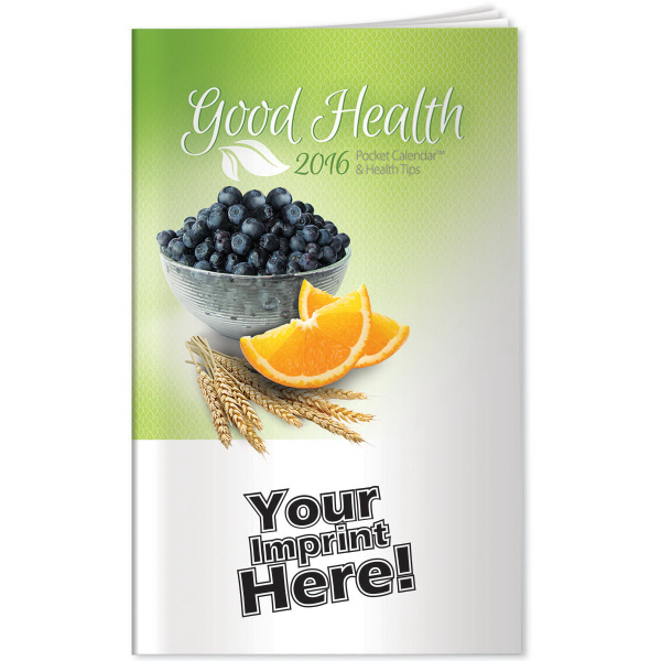 Personalized Pocket Calendars - 2015 Good Health Pocket Calendar & Tips