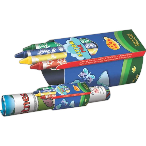 Personalized Crayons - Action Pak