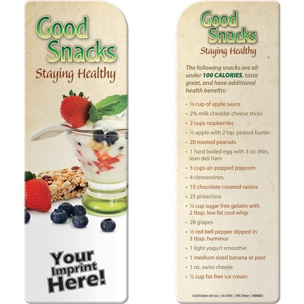 Personalized Bookmark - Good Snacks: Staying Healthy