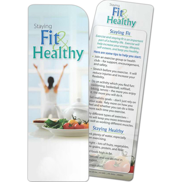 Personalized Bookmark - Staying Fit and Healthy
