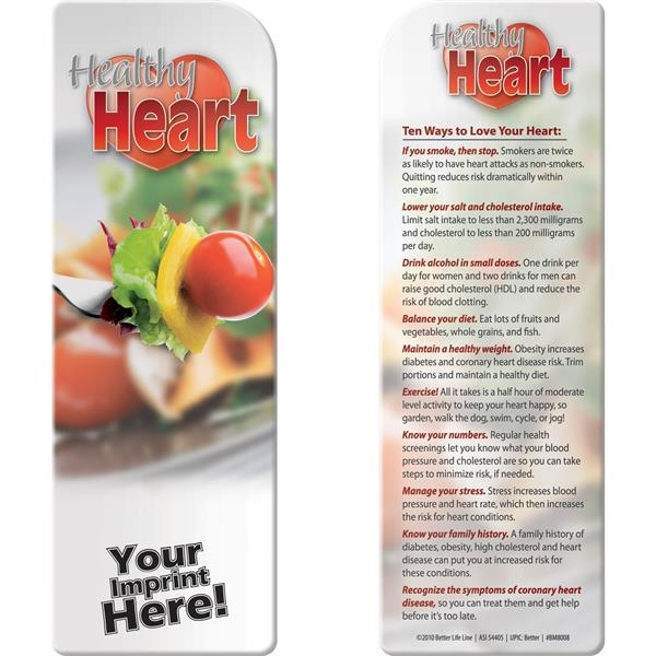Promotional Bookmark - Healthy Heart