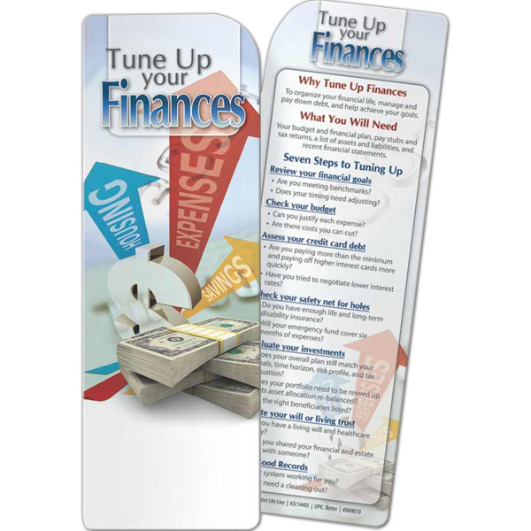 Imprinted Bookmark - Tune Up Your Finances