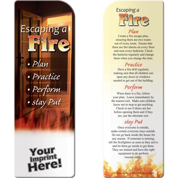 Printed Bookmark - Escaping A Fire