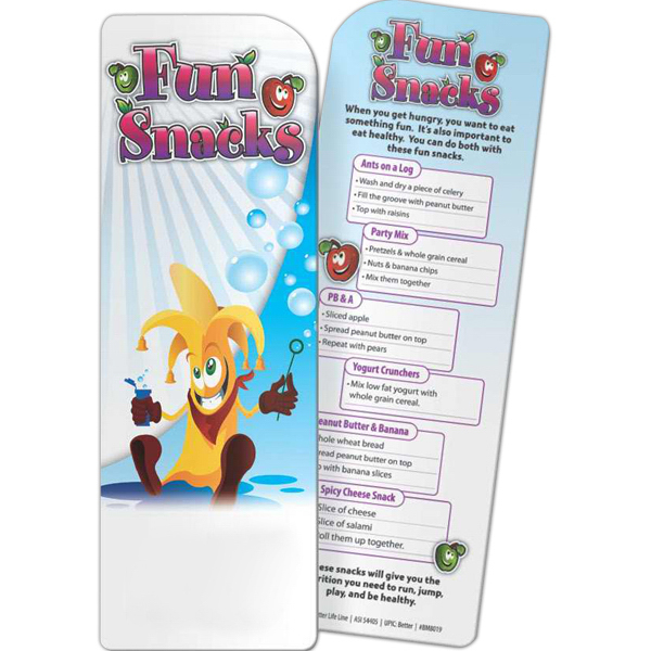 Printed Bookmark - Fun Snacks