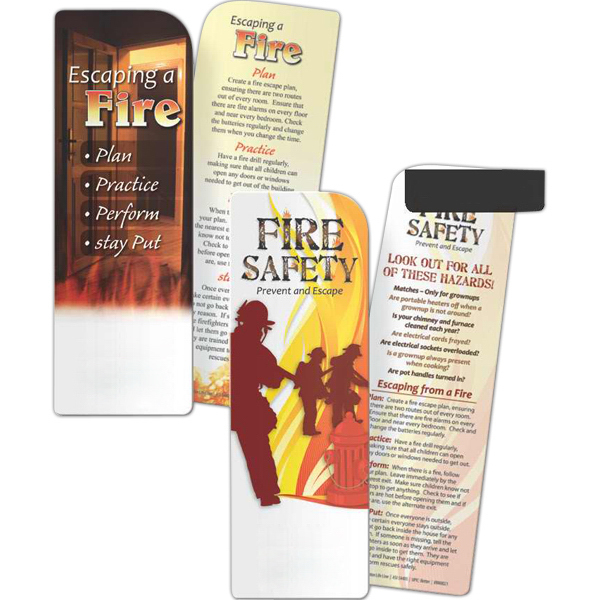 Printed Bookmark - Fire Safety: Prevent and Escape