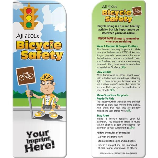 Customized Bookmark - All About Bicycle Safety