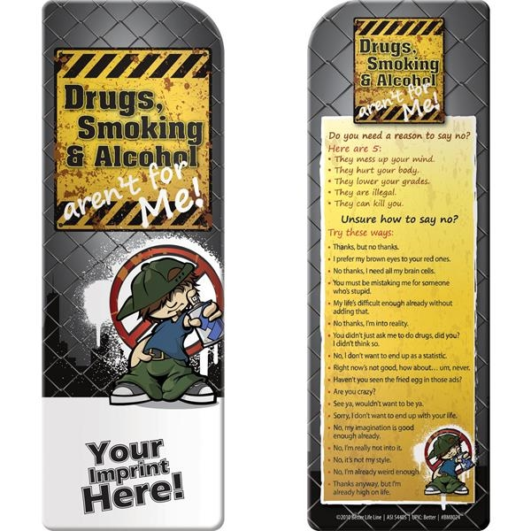 Personalized Bookmark - Drugs, Smoking, and Alcohol Aren't for Me!