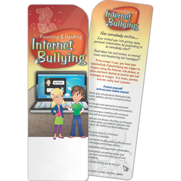 Imprinted Bookmark - Preventing and Handling Internet Bullying
